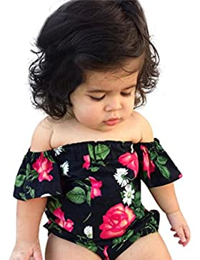 vestidos nina baratos Switchali infantil Recién nacido bebe Niña Verano moda sin tirantes mono Princesa Vestido...