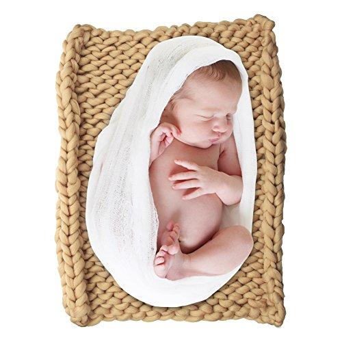 DrCosy Riesigen Stricken Dicke Garn Ddecke Sperrige Gestrickte Werfen Pet Bett Neugeborenen DIY Fotografie Decorator Stuhl Sofa Baby-Foto mat teppich 50 cm * 50 cm (50 Haustiere In Kostüme)