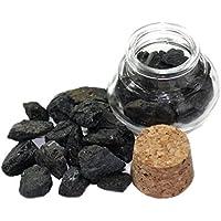 budawi® - Edelstein Turmalin (Schörl) Rohstein im Dekoglas ca. 55g, echte Edelsteine roh preisvergleich bei billige-tabletten.eu