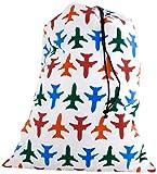 Kikkerland Travel Laundry Bag Plane Set Buste Per Biancheria Sporca Da Viaggio, Pvc, Multicolore, 11x10x7 cm