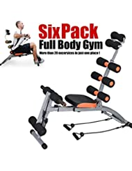 Bakaji Six Pack Care Trainer - Panca Addominali Completi ab tb rocket doer twister con Estensioni, Full Body Gym Exercise