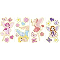 Wallpops Repositionable Glow in the Dark Fairies, Wall Stickers