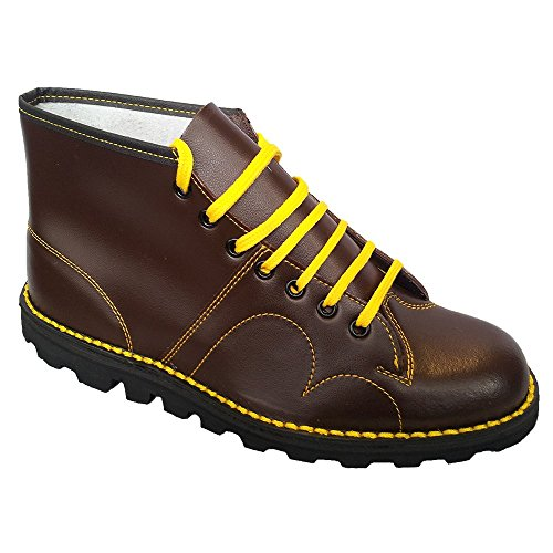 grafters-mens-boys-original-monkey-boots-leather-8-uk-wine