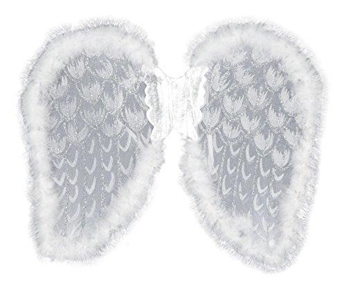 Boland 52818 - Ali brillante ángel, de unos 50 x 40 cm, un tamaño, color: blanco