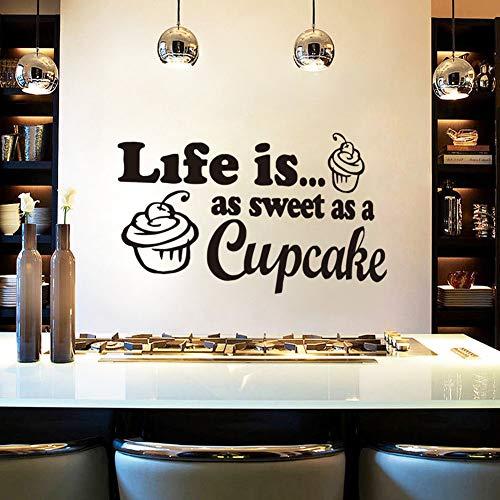 st so süß wie der Cupcakewandaufkleber Zitate schwarz buchstabendiy Weihnachten hauptdekorationen Vinyl Aufkleber für küche44 * 85 cm ()