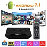 TV Box Android 7.1 - VIDEN W1 Smart TV Box Dernière Amlogic S905X Quad-Core, 1Go RAM & 8Go ROM, 4K UHD H.265, USB, HDMI, WiFi Lecteur Multimédia pour Divertissement à Domicile[Version améliorée]