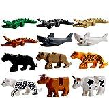 FutureShapers 12Pcs Kit di Costruzione Modello Animale Coccodrillo, Leopardo, Mucca e squalo per i Bambini
