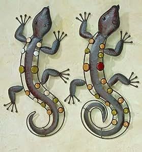 Gekko gecko eidechse salamander nizza wanddeko eisen 52 cm - Wanddeko eidechse ...