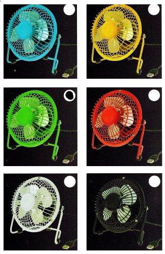Preisvergleich Produktbild Tisch-Ventilator Vollmetall laufleise USB Durchmesser farblich sortiert ca. 15 cm Kühler Raum-Lüfter Luft-Erfrischer Lüftung