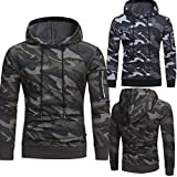 Search : Toamen Men's Long Sleeve Camouflage Hoodie Sweatshirt, Fashion Mens Slim Designed Hooded Coat Jacket