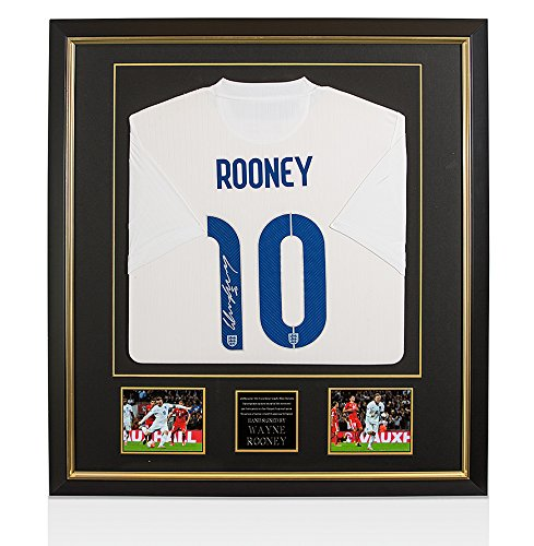 Framed-Wayne-Rooney-Signed-England-Shirt-Top-England-Goal-Scorer-Limited-Edition