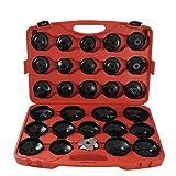 CCLIFE 31 pieza Juego de llaves de filtros de aceite llaves para extraer filtros de aceite