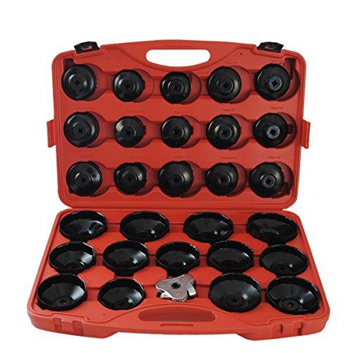 31 tlg Universal ÖlFilter Ölfilterkappen Satz Ölfilterschlüssel Werkzeug Test