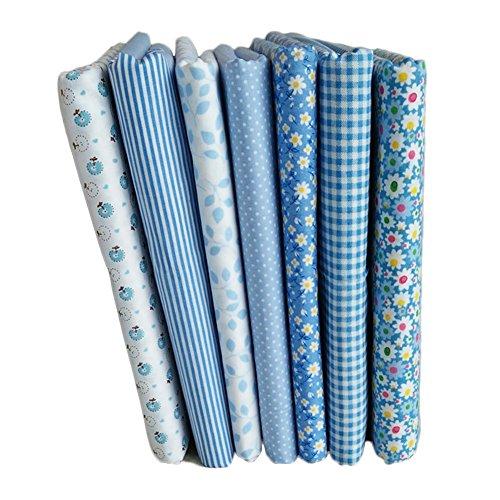 Blue Vessel 7 Stück / Sätze Von Blau 7 Stück Puzzle Gruppe Von 1,6 m Leinwand Gewebe Baumwolle Kleine Florale Hand Diy Baumwolle