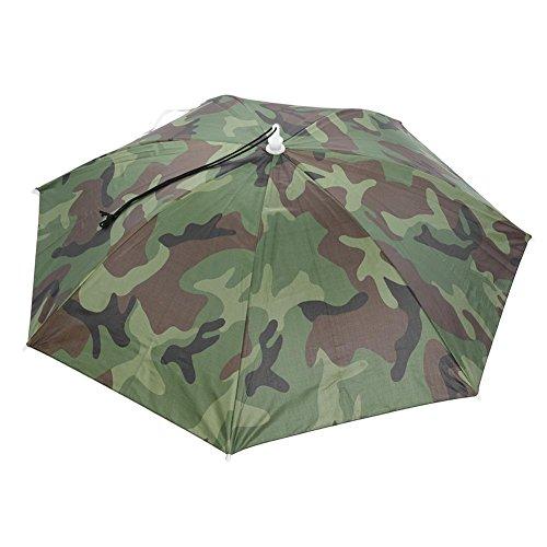 Domybest Sombrero de sombrero plegable para exteriores con sombrero para el sol anti rayos UV, impermeable, para acampada, pesca, gorra verde verde