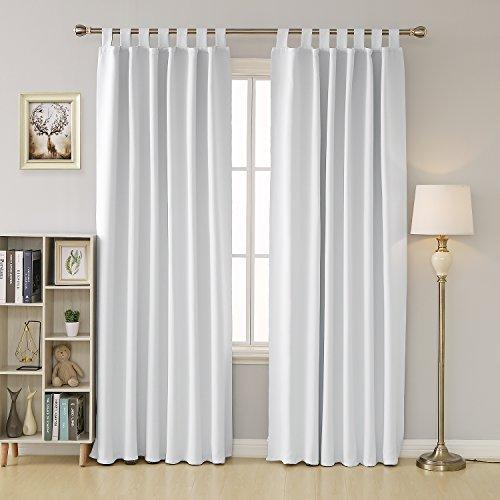 Deconovo tende oscuranti termiche isolanti con passanti per camera da letto 140x290 cm grigio perla 2 pannelli
