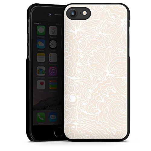 Apple iPhone 4 Silikon Hülle Case Schutzhülle Spitze Muster Blumen Hard Case schwarz
