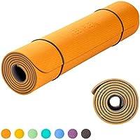 KeenFlex Grand Tapis de Yoga Premium épais et Confortable, pour Pilates/Fitness / Sport/Gym / Ecologique et recyclables