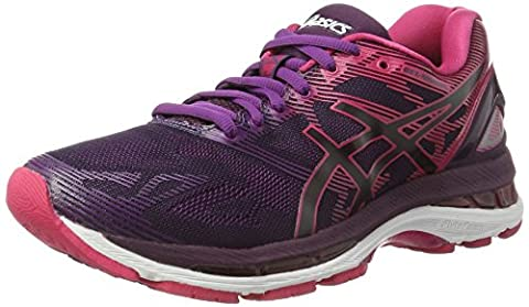 Asics Gel-Nimbus 19, Chaussures de Running Femme, Noir (Black/Cosmo Pink/Winter Bloom), 39 EU
