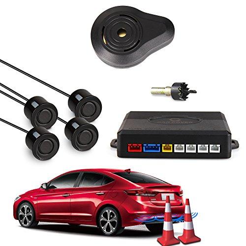 CAR ROVER Car Capteur de Stationnement Auto Système Stationnement BiBi Alerte Sonore Buzzer Avec 4 Capteurs Noir