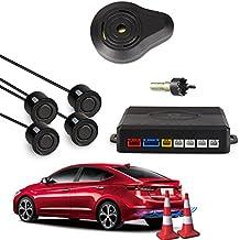 CAR ROVER® Sensor Aparcamiento Kit 4 Sensor Marcha Atras con Zumbador Bibi Alarma de Sonido (Negro)