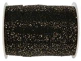 SANTEX 4719-18-10-Geschenkband, Weihnachten Metall, 10 mm x 25 m, Schwarz