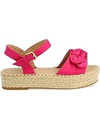 Mujer Para ZapatosY Amazon Fucsia esLazo Zapatos b7gyf6