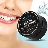 Aktivkohle pulver für zähne, zahnaufhellung, Teeth whitening charcoal powder, Zahnpflege Bleaching - 100% Natürlich , keine chemischen Zusätze, Activated charcoal teeth whitening