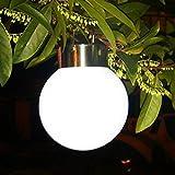 Solarleuchten Garten LED ABS, Edelstahl Energieeffiziente Umweltfreundliche Wasserdicht für Außen / Landscape / Outdoor Zaun Stimmungslampe Dekorative Leuchten White Licht Hängende Solarkugel (IP65)