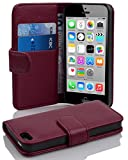 Cadorabo Apple iPhone 5C Etui de Protection STRUCTURE en ORCHIDÉE VIOLETS – Coque...