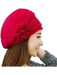Casquillo de la Boina de Las Mujeres Gorros franceses Sombreros Sombrero de  Las señoras del otoño da32f9d79dc