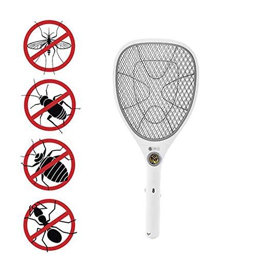 AA-SS-Fly Swatter Bug Zapper-Schläger, elektrische Fliegenklatsche, Fliegenkiller und Moskito-Schläger, Fliegenkiller - helle LED-Beleuchtung - einzigartiges 3-Lagen-Sicherheitsnetz