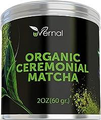 Organic Ceremonial Matcha - Best Taste - USDA Organic - Energy Booster - Green Tea Powder (2oz)