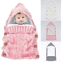 Yinuoday - Saco de dormir con capucha para bebé recién nacido, manta para bebés de 0 a 12 meses, diseño de actualización