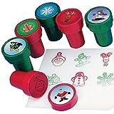 6 x Stempel Lebkuchenmann Weihnachten Adventskalender Giveaway Kalender Kinder Jungen Mädchen Kinderstempel Adventskalenderfüllung