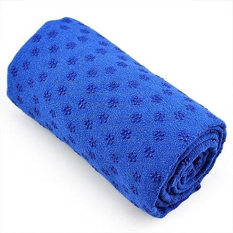Kabalo BLAU Sport Fitness Yoga Towel Yogatuch Blanket MIT BEUTEL - cover an exercise mat - Non Slip Pilates Accessory - Hause Fitnessgeräte