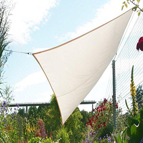 PEGANE Voile d'ombrage rectangulaire Ivoire en Polyester 200g/m² Anti-UV, 300 x 250 cm avec kit de Fixation