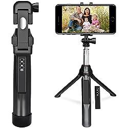 """Bastone Selfie , Peyou® [3 in 1] Bastone Selfie Bluetooth Estendibile Monopiede Tenuto a Mano Supporto Treppiedi w/ Otturatore a Telecomando Rimovibile fino ai 35.4"""" per Gopro Camera, iPhone X 8/8 Plus 7/7Plus 6s/6s Plus 6/6 Plus Samsung Galaxy S8/S8 Plus S7/S7 Edge e smartphone sotto i 6""""(Nero)"""