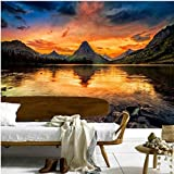 3d mural tapete berge sonnenaufgänge und sonnenuntergänge landschaft tapete wohnzimmer wanddekor schlafzimmer tapeten XXL 350X737CM