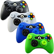 Pandaren Soft Silicone Skin for Xbox 360 Controller Set(Skin X 4 + Thumb Grip X 8) (Black, White, Green, Blue)