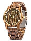 Orologio in legno unisex, orologi in legno naturale, Sentai orologi al quarzo leggeri fatti a mano, orologio da polso da donna da uomo