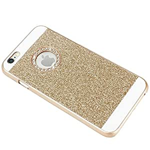 Store@urdoor iPhone Bling Series - Hard Back Case Cover (iPhone SE, Gold Glitter)