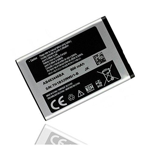 ORIGINAL Akku accu Batterie battery für Samsung SGH-D720, SGH-D730, SGH-E210, SGH-E250, SGH-E250i, SGH-E380, SGH-E500, SGH-E520, SGH-E870, SGH-E900, SGH-F250, SGH-M150 - 800mAh - Li-Ionen - (AB463446BU)
