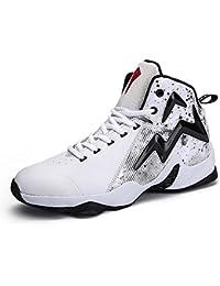 Alta Top Zapatos De Baloncesto Grueso Transpirable Estudiantes Deportes Zapatos Snekers Unisex Sport Zapatos UE Tamaño 39-45,Whiteblack,45EU