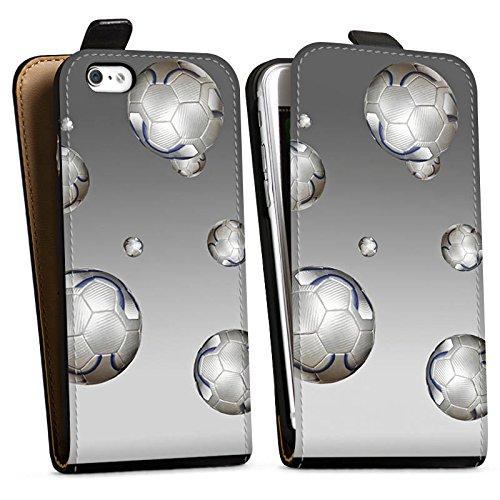 Apple iPhone X Silikon Hülle Case Schutzhülle Fußball Sport Silber Downflip Tasche schwarz