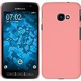 PhoneNatic Case für Samsung Galaxy Xcover 4 Hülle rosa gummiert Hard-case + 2 Schutzfolien