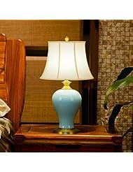 BBSLT-Base de cobre puro lámpara de mesa de cerámica de estilo occidental simple chino moderno salón dormitorio cabecera , una lámpara de mesa decorativas