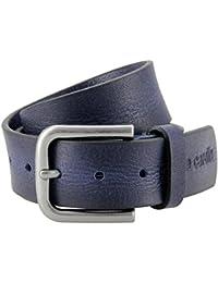 Ledergürtel Herren / Gürtel Herren Pierre Cardin, 70213 blau