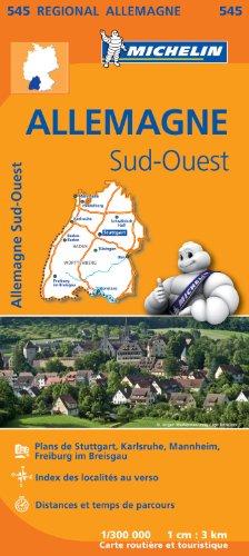Carte Allemagne Sud-Ouest Michelin par Collectif MICHELIN