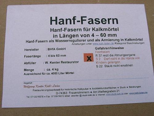 Hanf-Kurz-Fasern 500g (2mm) für Fein-Kalkmörtel